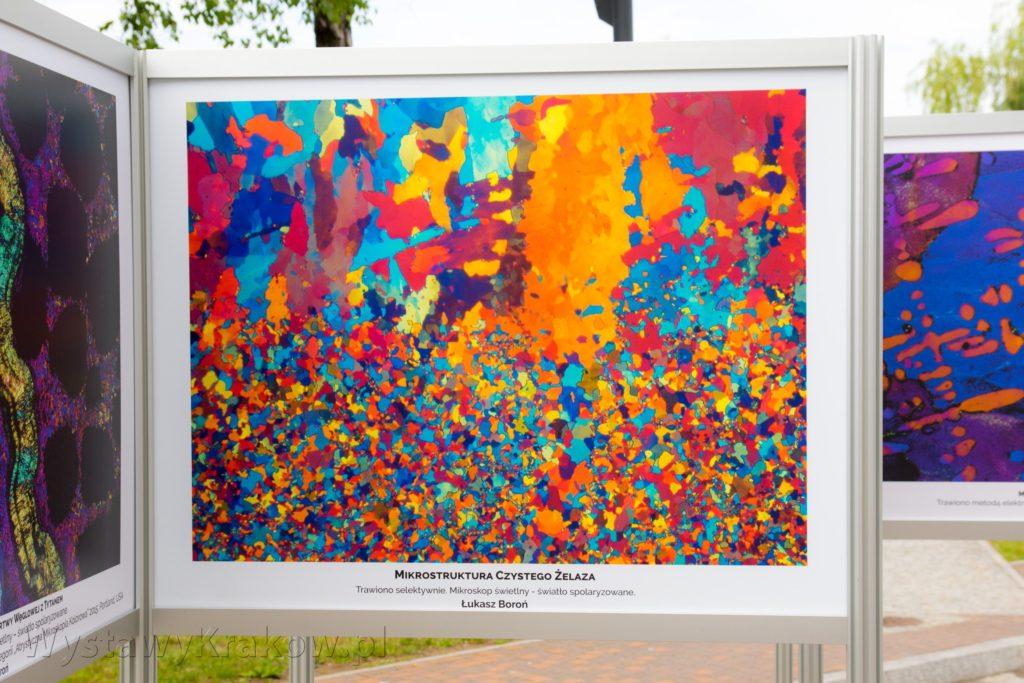 Druk UV wykorzystany przy tworzeniu plansze tej wystawy plenerowej oddał głębię kolorów i ich intensywność