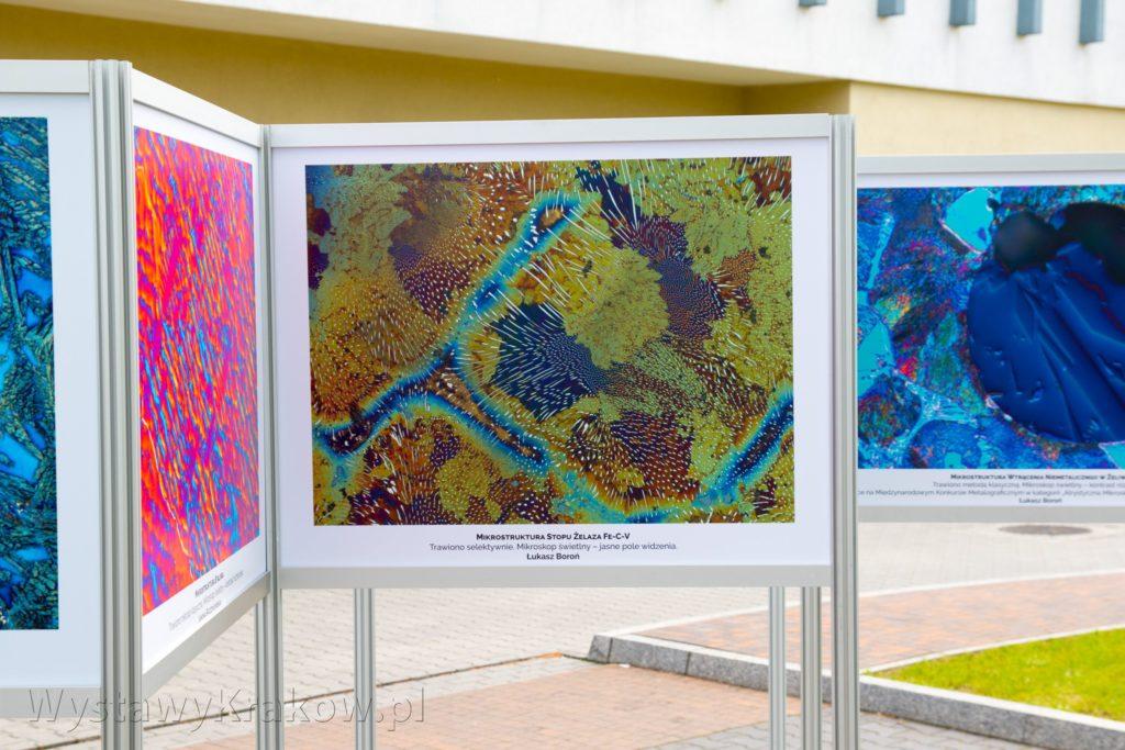 Wystawa Plenerowa w Krakowie składała się z kilku stojaków wystawienniczych