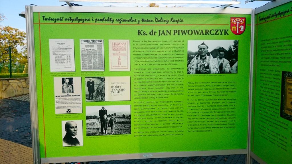 System wystawienniczy zamontowany w miejscowości Brzeźnica